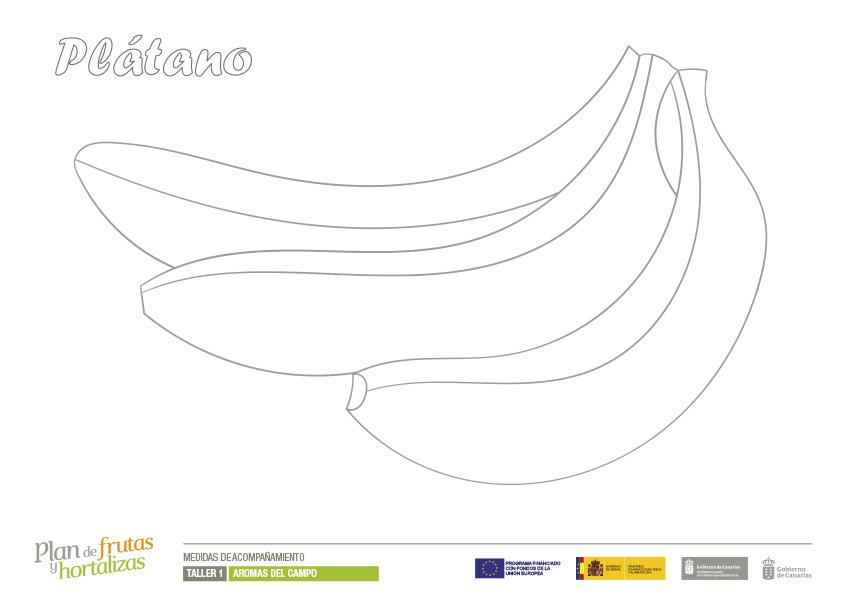 Láminas Para Colorear Plan De Frutas Y Hortalizas
